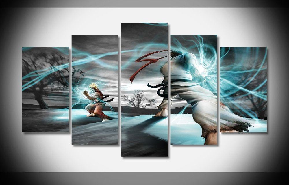 New Street Fighter Ryu And Ken Artwork Wall Art Print Premium Poster