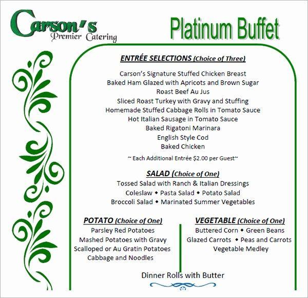 16 Banquet Menu Templates