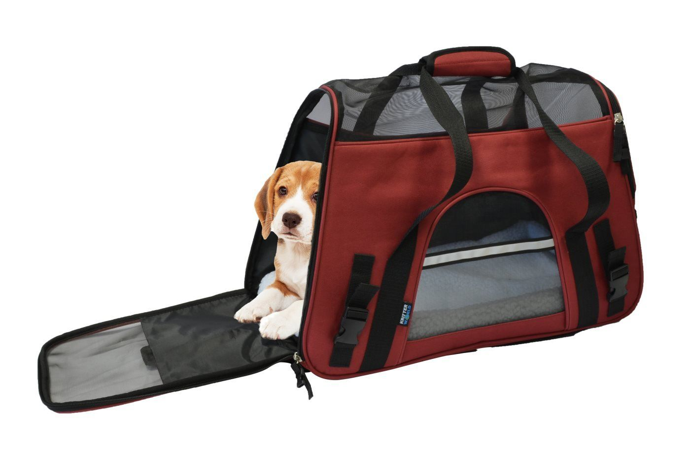 2d435d01c7a4 KritterWorld Soft Side Pet Carrier Travel Bag for Small Dogs and ...