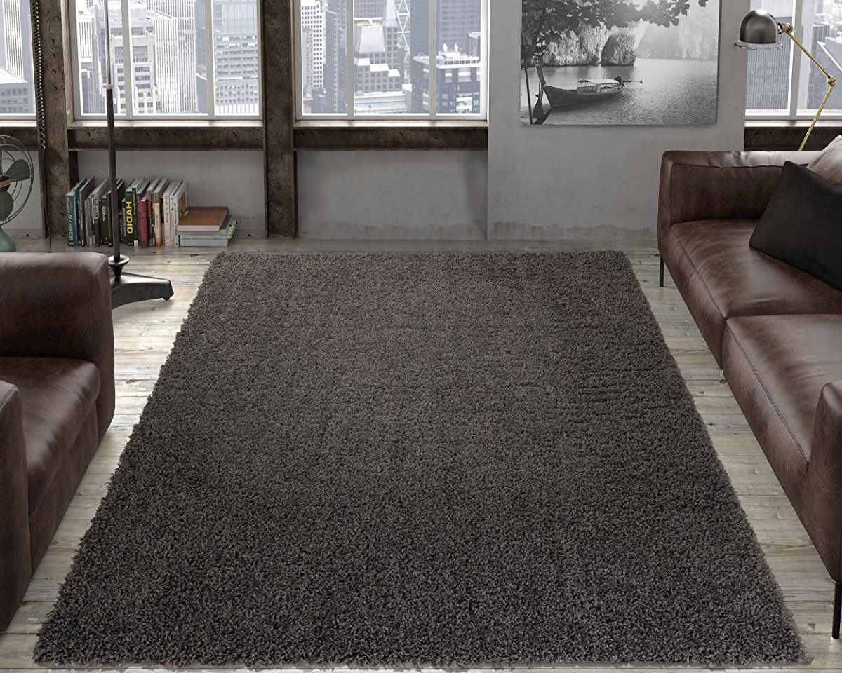 710 x 910 Gray Ottomanson Collection shag Trellis Area Rug
