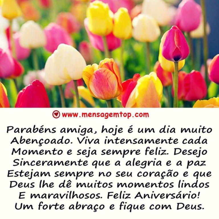 Mensagem Aniversario Amiga Com Imagens Mensagem Aniversario