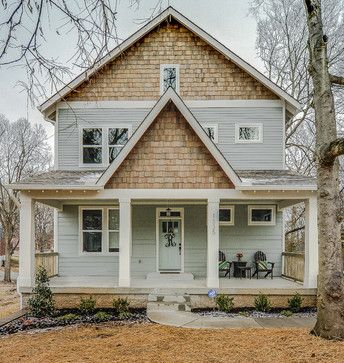 Our Exterior Color (S.W. Unusual Grey) With Wood Shingle Siding Craftsman  Exterior