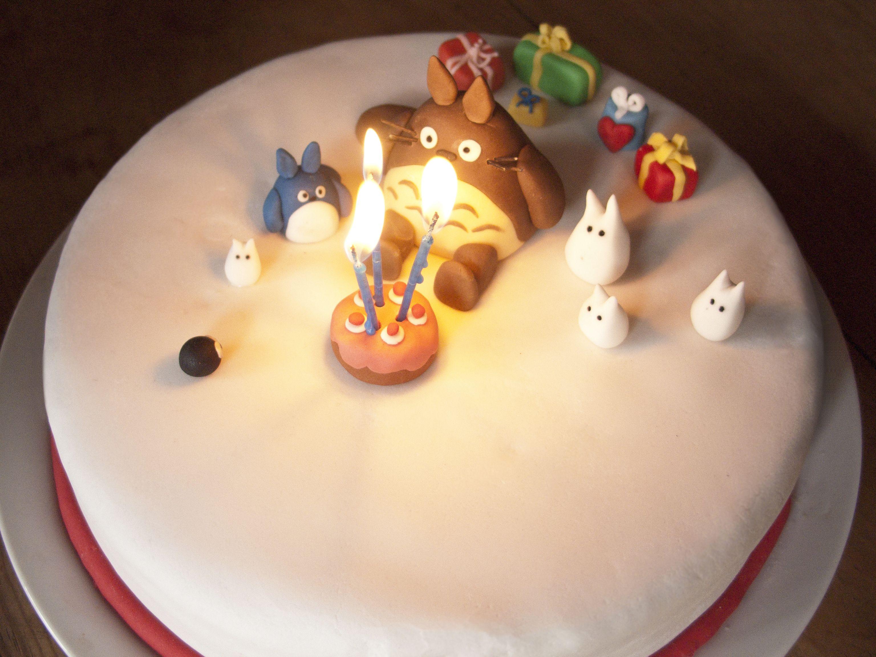 Totoro Fondant Birthday Cake