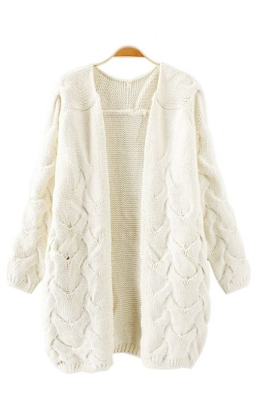 loose cardigan sweater | WEAR | Pinterest | Cable knit cardigan ...
