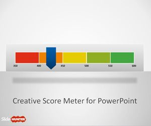 free creative score meter template for powerpoin business