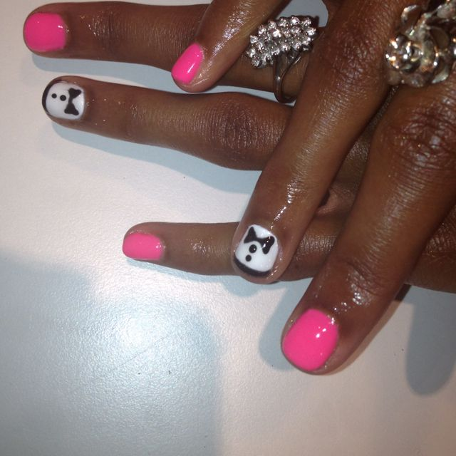 Bow ties in gel by Erin at the nail lounge in costa mesa | Craft ...