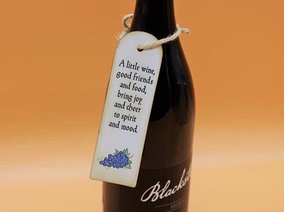 Wine Poem Tags Rustic Wine Bottle Tags Wedding Wine Tags Wine