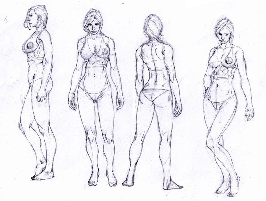 drawing a female ass (5)   Figura humana femenina   Pinterest ...
