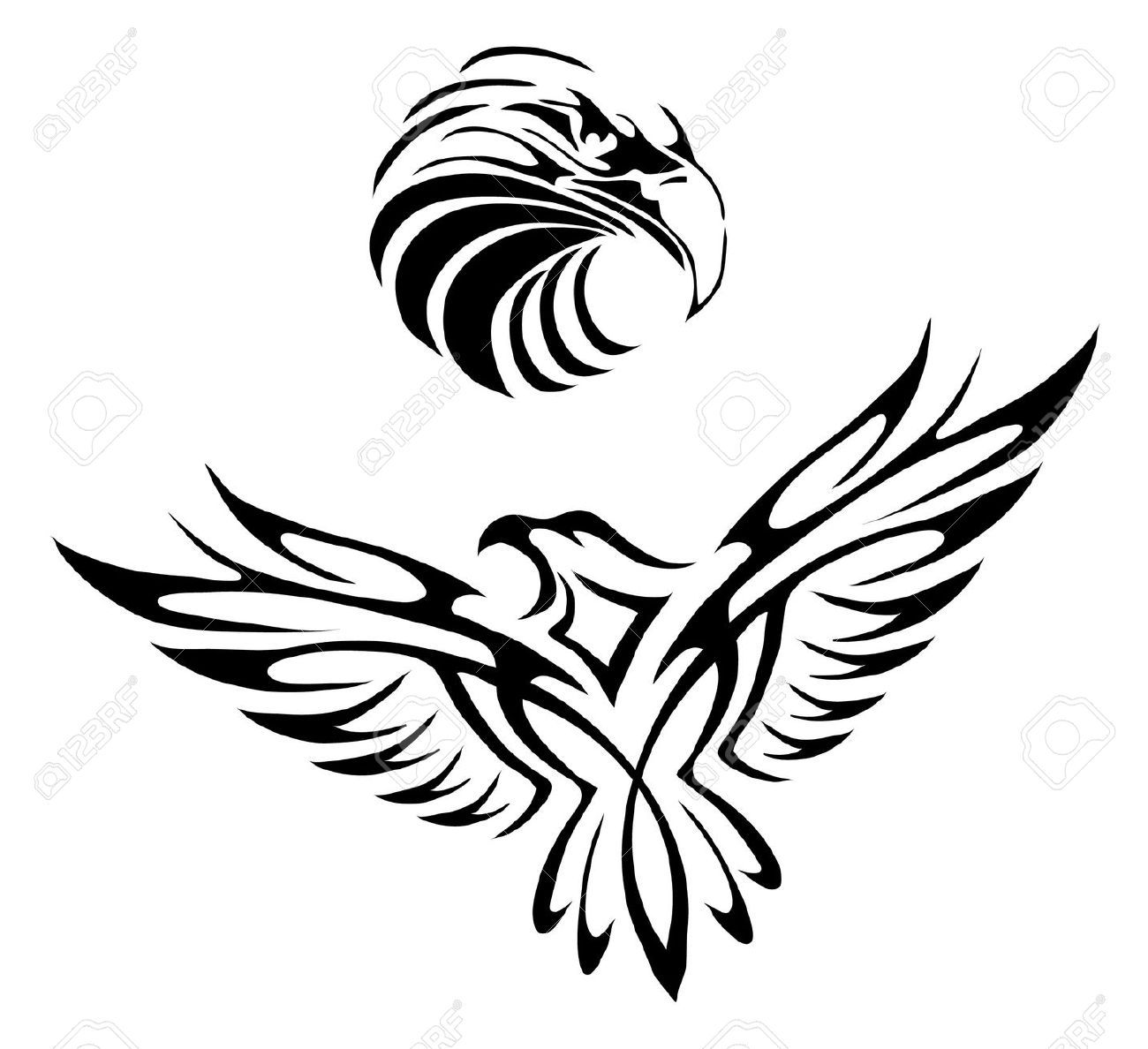 Hawk Silhouette Stock Illustrations Cliparts And Royalty