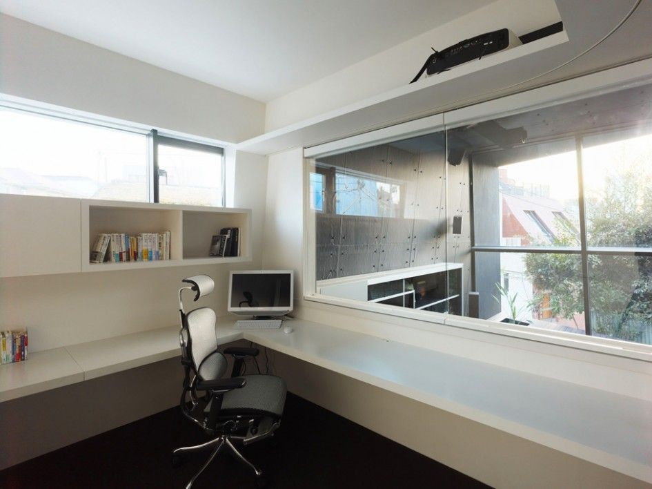 Other Design Ideas Japan N House Minimalist Modern White Home Office With Modern Office Swivel Chairs Minimalist Contemporary Home Office