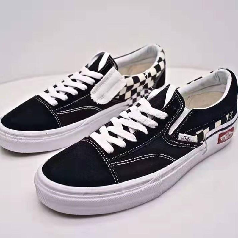Vans Old Skool Painted Shoes Black In 2020 Vans Cheap Vans Shoes Vans Old Skool