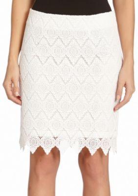 Karen Kane  Scallop Lace Mini Skirt