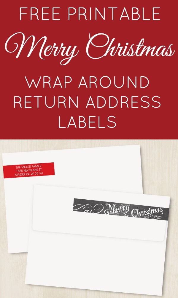FREE PRINTABLE Editable Wrap Around Chalkboard Return Address - mailing address labels template