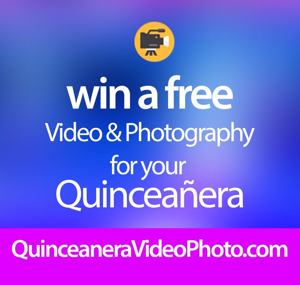 register for a chance to win a free video or photography from 15 Mariposas in SoCal http://quinceaneravideophoto.com
