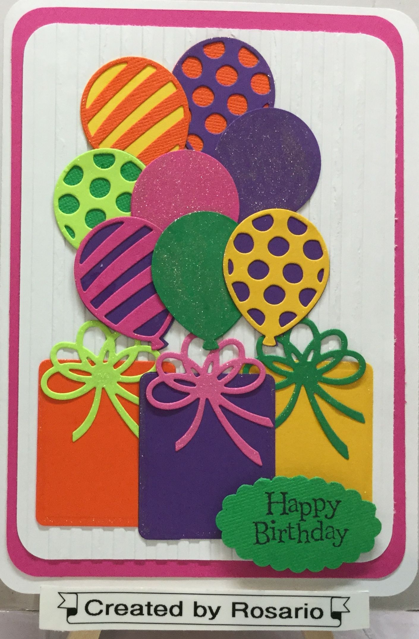 Handmade card with ballon adventures from stampin up birthdays