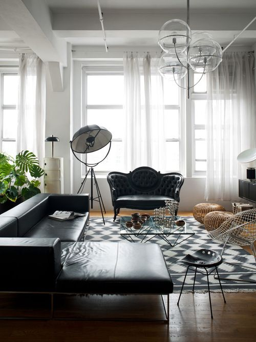 Tremendous How To Decorate A Living Room With A Black Leather Sofa Ocoug Best Dining Table And Chair Ideas Images Ocougorg