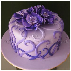 Cake Designs For A Woman Single Layer Google Search