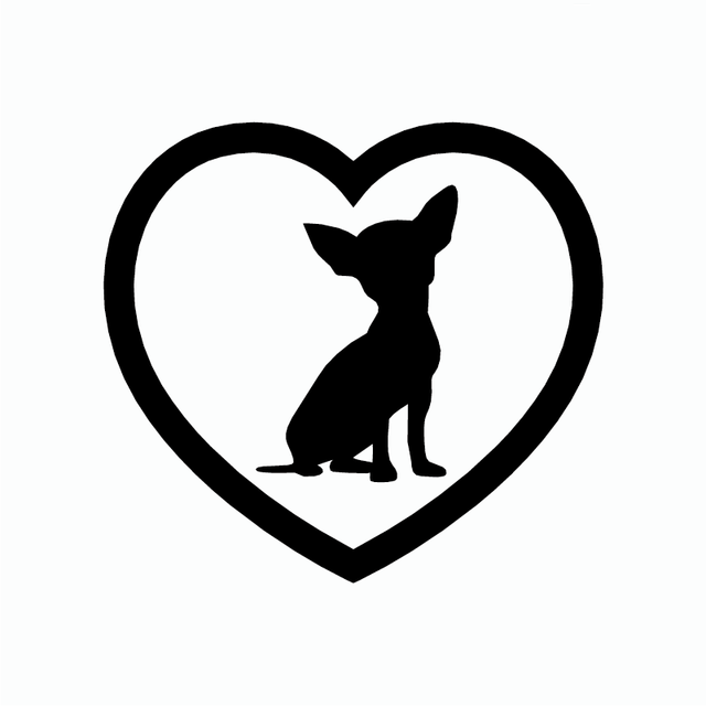 CHIHUAHUA DOG, CANINE, PET, ANIMAL LAPTOP /& MORE VINYL STICKER FOR CAR