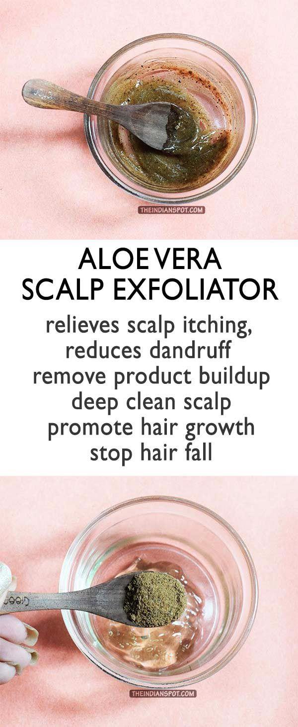 Aloe Vera Scalp Exfoliator to Stimulate Healthy Hair