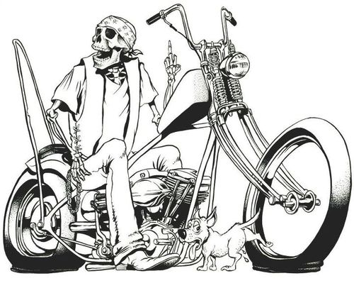 Chopper With Images Motorcycle Drawing Skull Art Harley Tattoos