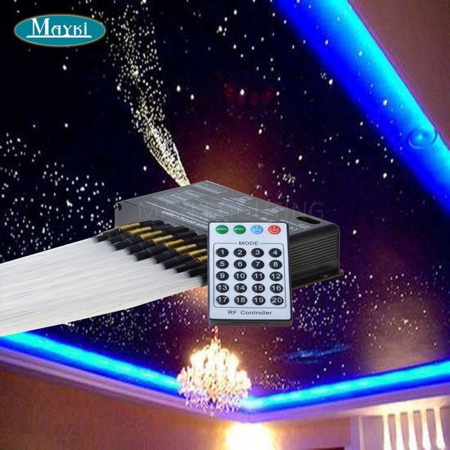 Diy Fibre Optic Star Ceiling With 5w 12v Dc Led 200pcs 0 75mm Fiber Optic Tails At 2m 20 Programs Remote Con Star Ceiling Starry Ceiling Star Lights On Ceiling