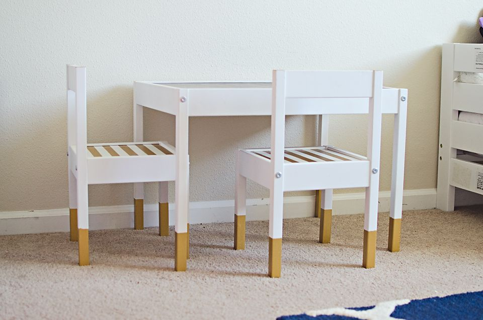 Modern Navy Coral And Gold Bedroom Ikea Kids Table Childrens