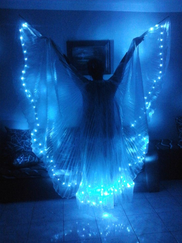 Details About Women Led Light Isis Wings Belly Dance