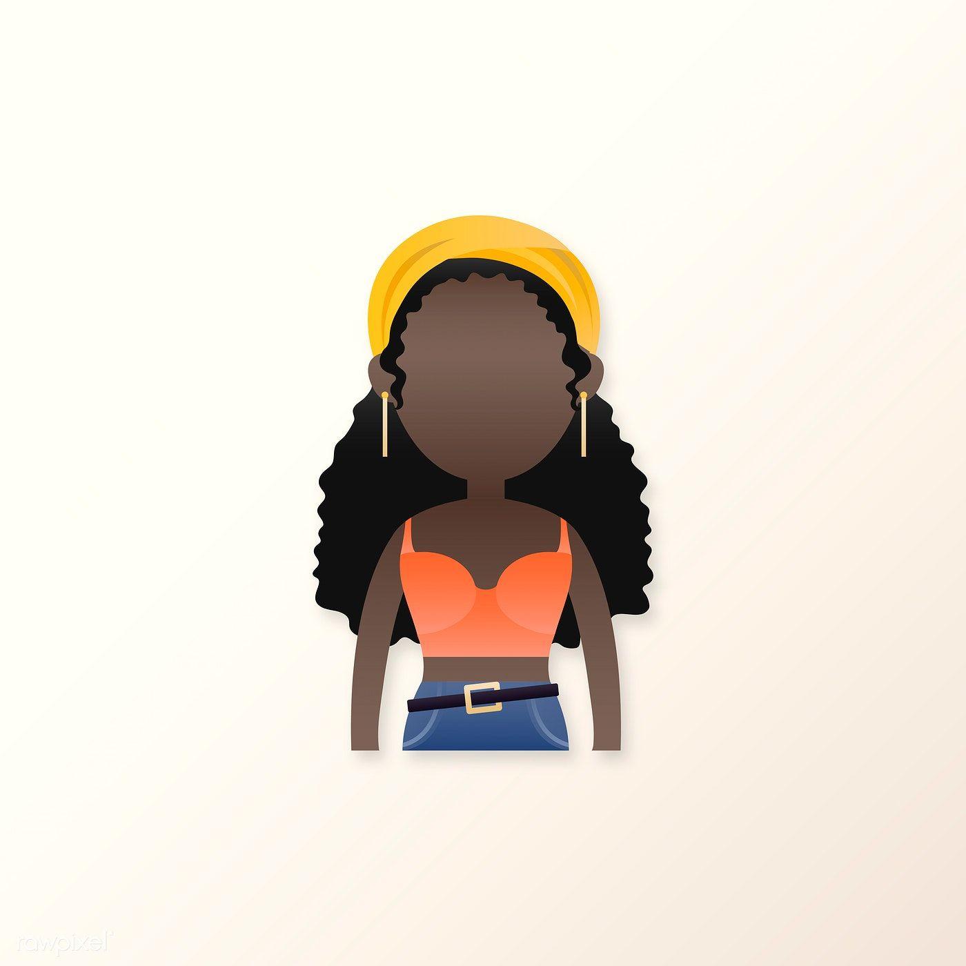 Download Premium-Vektor von Young Black Girl Avatar Vektor 2024264