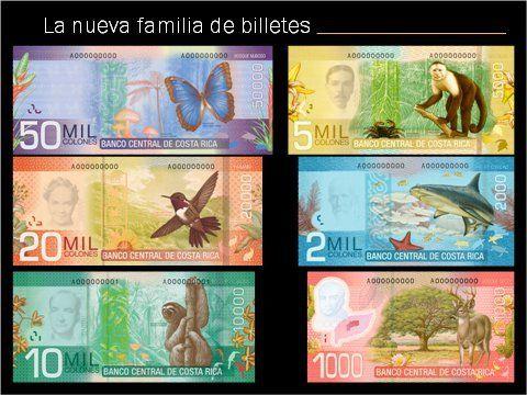 Billetes De Costa Rica Denominacion