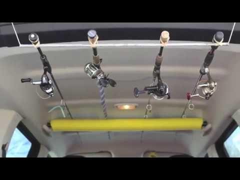 Cheap suv fishing rod rack not car youtube fishing for Fishing rod car rack