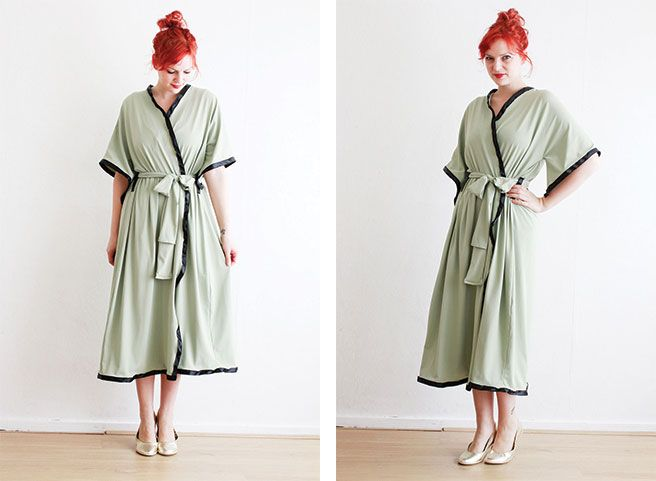Easy Vintage looking Bathrobe DIY- I love this, I\'m so into robes ...