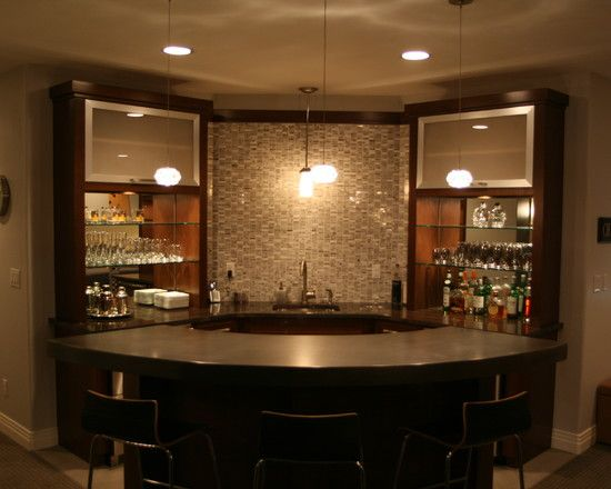 Denver Basement Design, Bar | Corner home bar, Basement bar designs, Basement design