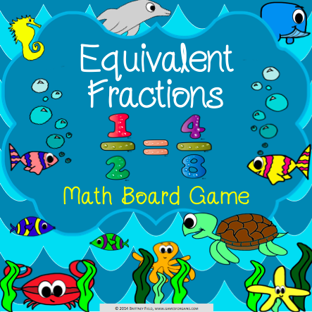 Equivalent Fractions Board Game | Equivalent fractions, Board ...