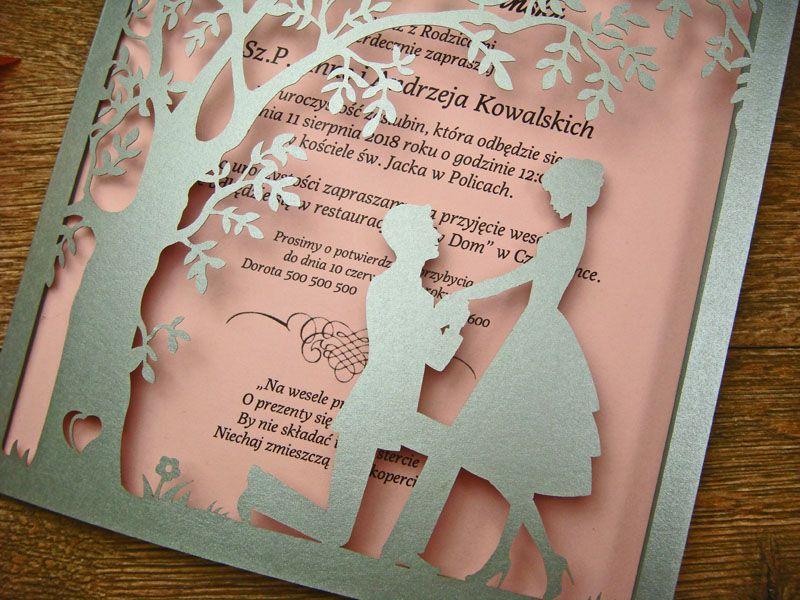 Zaproszenia Slubne Z Kolekcji Spotkanie Wzor 3 Zaproszenia Slubne Laserowe Kartki 3d Wedding Invitation Cards Wedding Invitations Invitations