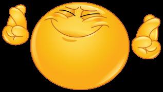 Emoticon Hoping Hard Dedos Cruzados Emoticonos Emojis Emoticonos