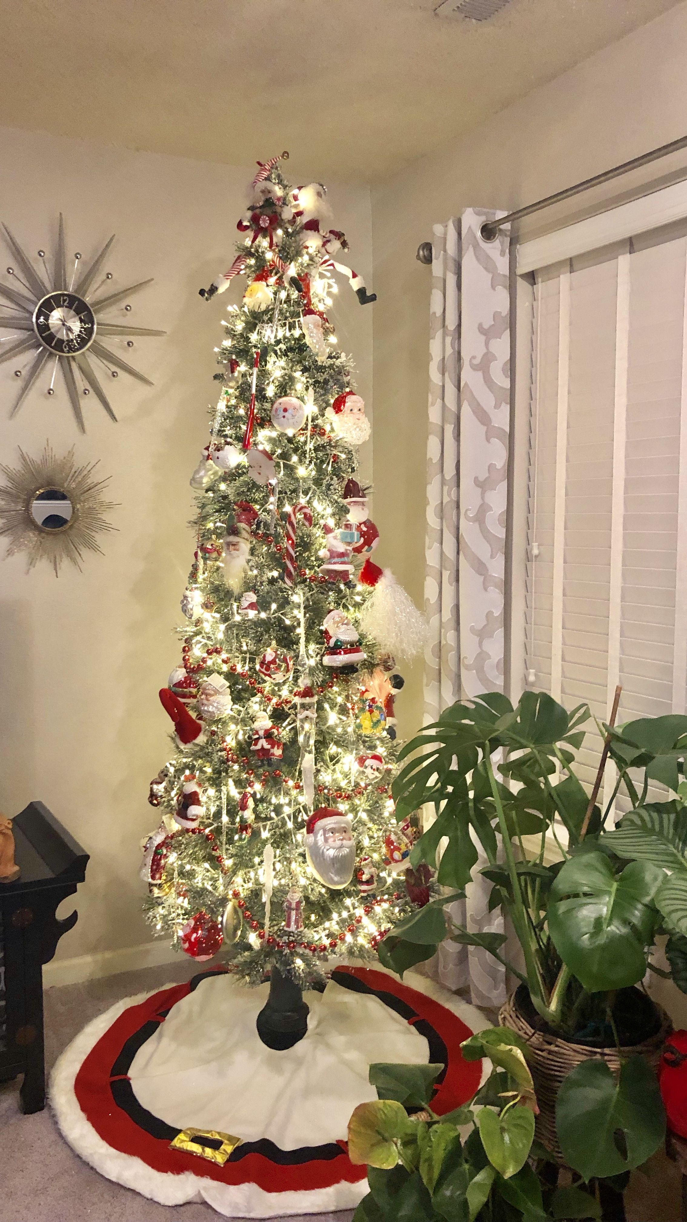 Slim Santa Tree Christmas Decorations Christmas Home Christmas Deco