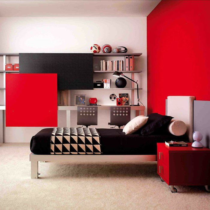 r sultat de recherche d 39 images pour chambre fille rouge id e new maison pinterest deco. Black Bedroom Furniture Sets. Home Design Ideas