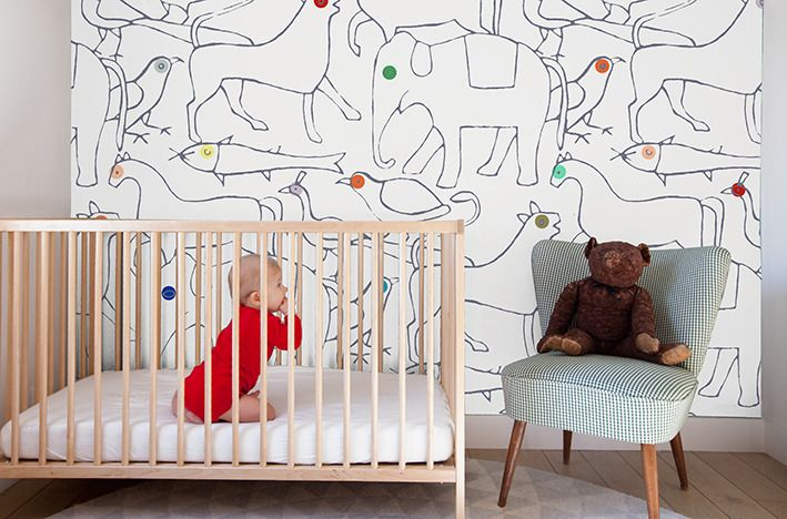 Carta Da Parati Per Camera Ragazzi : Bespoke minakani lab wallpaper little interiors
