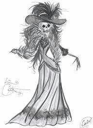 Pin De San Loza En Tatuajes Y Dibujos Dibujos Catrinas Mexicanas Dia De Muertos