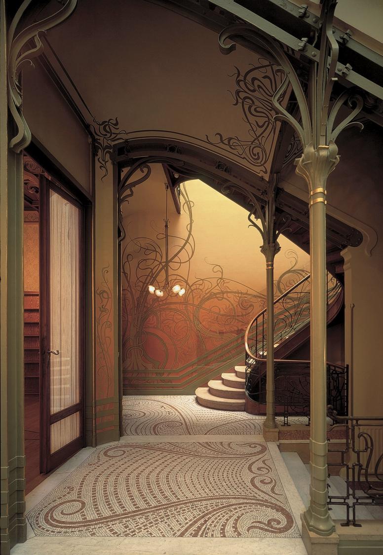 Victor horta tassel house brussels belgium art nouveau for Decoracion art nouveau