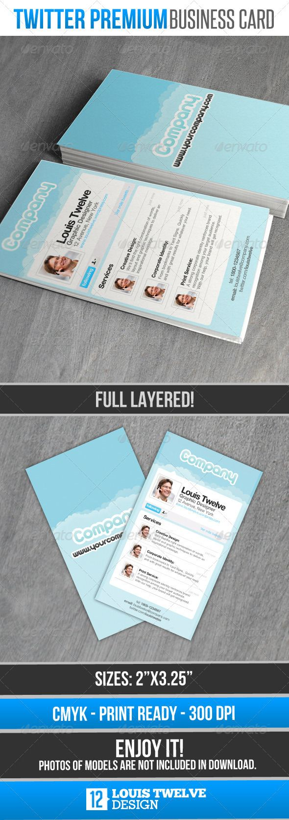 Twitter Premium - Card Business | Business, Business cards and ...
