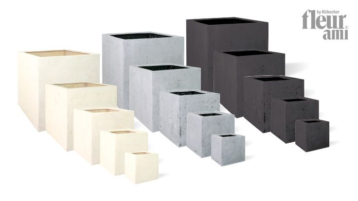 Polystone Square Planter By Fleur Ami Made Of Lightweight And