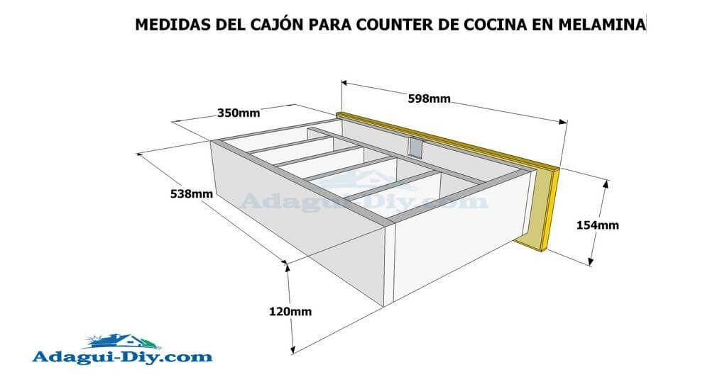 Como hacer muebles de cocina en melamina plano detallado for Hacer plano cocina