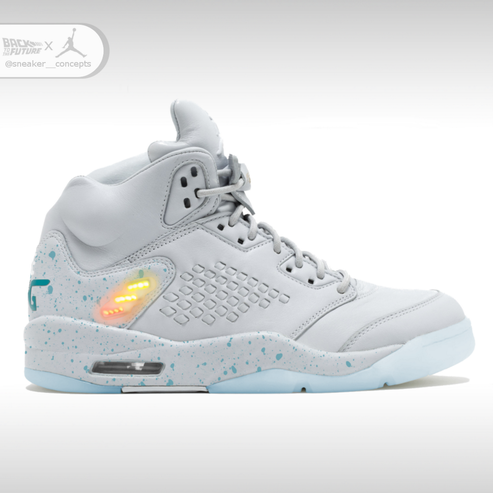 827ea3e96402 Air Mag inspired Jordan 5 - Sneaker Concepts