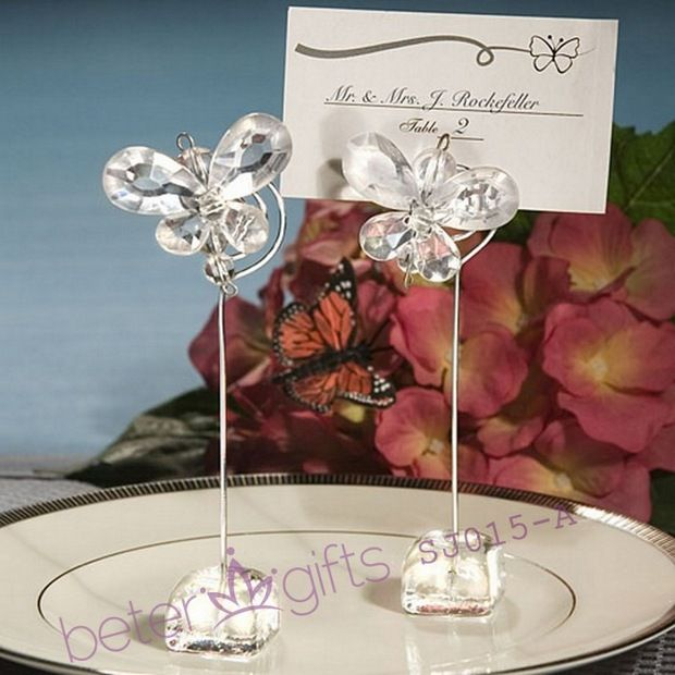 Wedding decoration ideas sj015 butterfly place card holders wedding decoration ideas sj015 butterfly place card holders crystal partyfavor romantic unique junglespirit Images