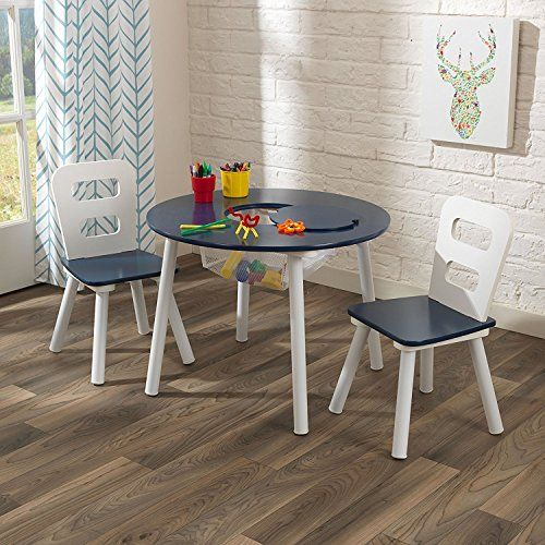 Kidkraft Round Table And 2 Chair Set White Navy Kidkraft Table