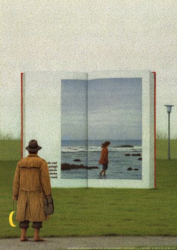 On The Way Open Book Posters Quint Buchholz Allposters Com Book Art Book Posters Artist Books