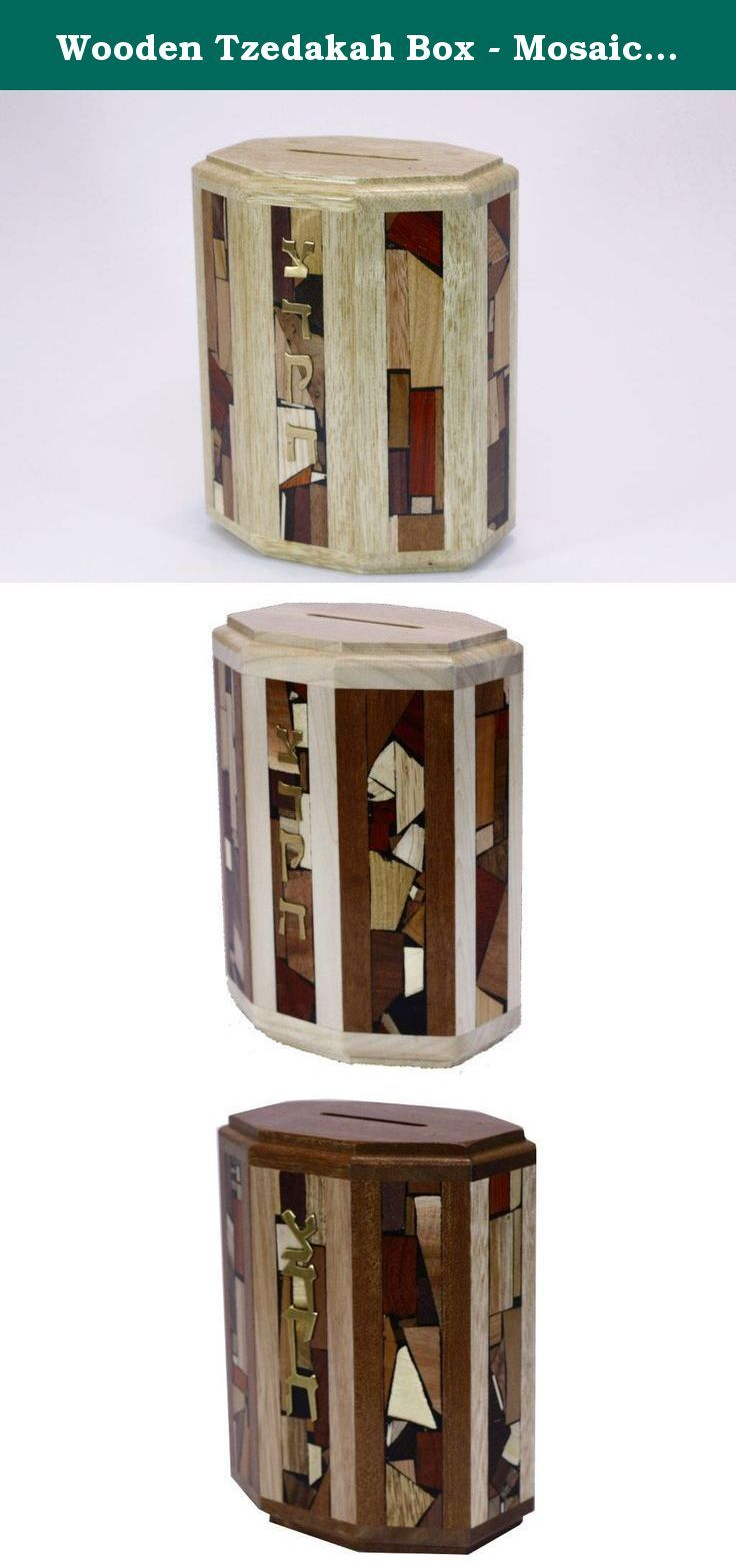 Etz Ronu0027s Wooden Tzedakah Box (or Charity Box) Is Decorated With 8 Panels  Of Hand Inlaid Multi Wood Mosaics And Has Detail Work On ...
