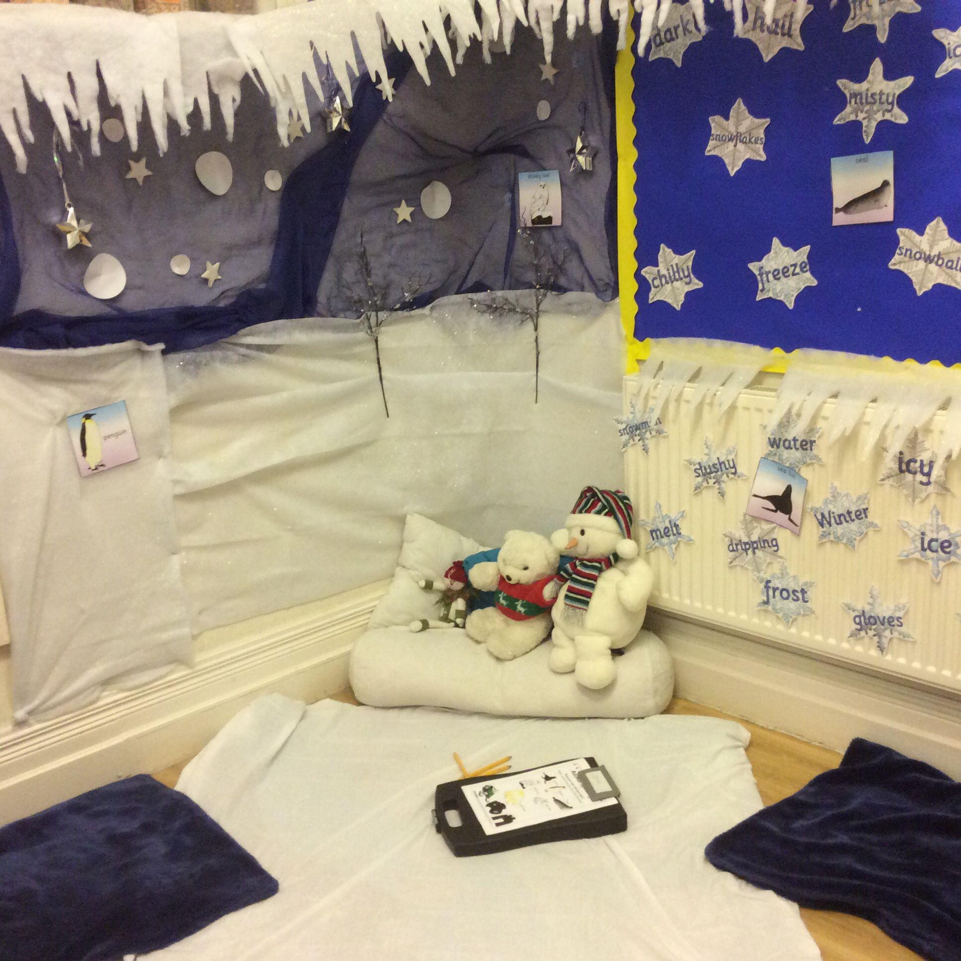 Winter Wonderland Preschool Classroom Decorations : Preschool classroom winter wonderland role play area