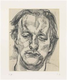 Artwork by Lucian Freud, Head of a Man, Made of etching